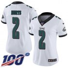 Cheap Nike Eagles #2 Jalen Hurts White Women's Stitched NFL 100th Season Vapor Untouchable Limited Jersey