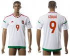 Cheap Hungary #9 Szalai Away Soccer Country Jersey