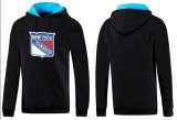 Cheap New York Rangers Pullover Hoodie Black & Blue