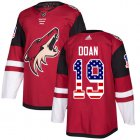 Cheap Adidas Coyotes #19 Shane Doan Maroon Home Authentic USA Flag Stitched Youth NHL Jersey