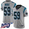 Cheap Nike Panthers #59 Luke Kuechly Silver Men's Stitched NFL Limited Inverted Legend 100th Season Jersey