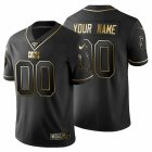 Cheap Indianapolis Colts Custom Men's Nike Black Golden Limited NFL 100 Jersey