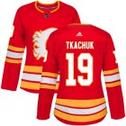 Cheap Adidas Flames #19 Matthew Tkachuk Red Alternate Authentic Women's Stitched NHL Jersey