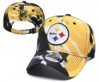 Cheap Steelers Team Logo Yellow Black Peaked Adjustable Fashion Hat YD