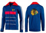 Cheap NHL Chicago Blackhawks Zip Jackets Blue-3