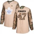 Cheap Adidas Maple Leafs #47 Leo Komarov Camo Authentic 2017 Veterans Day Stitched NHL Jersey