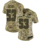 Cheap Nike Patriots #53 Josh Uche Camo Women's Stitched NFL Limited 2018 Salute To Service Jersey