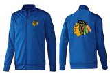 Cheap NHL Chicago Blackhawks Zip Jackets Blue-1