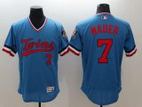 Cheap Twins #7 Joe Mauer Light Blue Flexbase Authentic Collection Cooperstown Stitched MLB Jersey