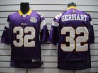Cheap Vikings #32 Toby Gerhart Purple Team 50TH Patch Stitched NFL Jersey