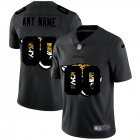 Cheap Jacksonville Jaguars Custom Men's Nike Team Logo Dual Overlap Limited NFL Jersey Black