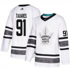 Cheap Adidas Maple Leafs #91 John Tavares White Authentic 2019 All-Star Stitched Youth NHL Jersey