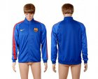 Cheap Barcelona Soccer Jackets Blue