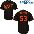 Cheap Orioles #53 Zach Britton Black Cool Base Stitched Youth MLB Jersey