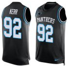 Cheap Nike Panthers #92 Zach Kerr Black Team Color Men's Stitched NFL Limited Tank Top Jersey