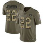 Cheap Nike Jets #22 Trumaine Johnson Olive/Camo Youth Stitched NFL Limited 2017 Salute to Service Jersey