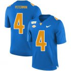 Cheap Pittsburgh Panthers 4 Nathan Peterman Blue 150th Anniversary Patch Nike College Football Jersey