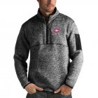 Cheap Montreal Canadiens Antigua Fortune Quarter-Zip Pullover Jacket Charcoal