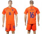 Cheap Holland #16 Clasie Home Soccer Country Jersey