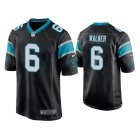 Cheap Men's Carolina Panthers #6 P.J. Walker Black Game Nike Jersey