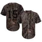 Cheap Royals #15 Whit Merrifield Camo Realtree Collection Cool Base Stitched Youth MLB Jersey