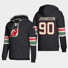 Cheap New Jersey Devils #90 Marcus Johansson Black adidas Lace-Up Pullover Hoodie