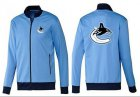 Cheap NHL Vancouver Canucks Zip Jackets Light Blue