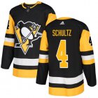 Cheap Adidas Penguins #4 Justin Schultz Black Home Authentic Stitched NHL Jersey