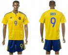 Cheap Ukraine #9 Gusev Home Soccer Country Jersey
