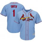 Cheap Cardinals #1 Ozzie Smith Light Blue Cool Base Stitched Youth MLB Jersey
