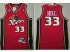 Cheap Detroit Pistons 33 Grant Hill Swingman Red Throwback Adidas Jersey