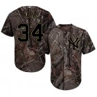Cheap Yankees #34 J.A. Happ Camo Realtree Collection Cool Base Stitched Youth MLB Jersey