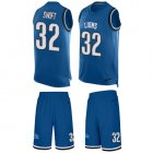 Cheap Nike Lions #32 D'Andre Swift Blue Team Color Men's Stitched NFL Limited Tank Top Suit Jersey