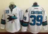 Cheap Sharks #39 Logan Couture White Stitched NHL Jersey