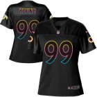 Cheap Nike Redskins #99 Chase Young Black Women's NFL Fashion Game Jersey