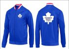 Cheap NHL Toronto Maple Leafs Zip Jackets Blue-1