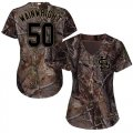 Cheap Cardinals #50 Adam Wainwright Camo Realtree Collection Cool Base Women's Stitched MLB Jersey