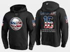 Cheap Sabres #16 Pat Lafontaine NHL Banner Wave Usa Flag Black Hoodie