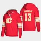 Cheap Calgary Flames #13 Johnny Gaudreau Red adidas Lace-Up Pullover Hoodie