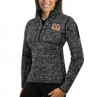 Cheap Arizona Coyotes Antigua Women's Fortune 1/2-Zip Pullover Sweater Charcoal