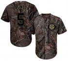 Cheap Astros #5 Jeff Bagwell Camo Realtree Collection Cool Base Stitched Youth MLB Jersey