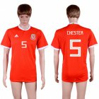 Cheap Wales #5 Chester Red Home Soccer Club Jersey