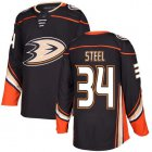Cheap Adidas Ducks #34 Sam Steel Black Home Authentic Youth Stitched NHL Jersey