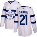 Cheap Adidas Maple Leafs #21 Borje Salming White Authentic 2018 Stadium Series Stitched NHL Jersey