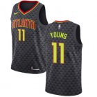 Cheap Hawks #11 Trae Young Black Basketball Swingman Icon Edition Jersey