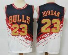 Cheap Men's Chicago Bulls #23 Michael Jordan White With Black Independence Day 1997-98 Hardwood Classics Soul Swingman Throwback Jersey