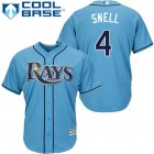 Cheap Rays #4 Blake Snell Light Blue Cool Base Stitched Youth MLB Jersey