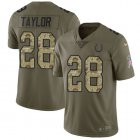 Cheap Nike Colts #28 Jonathan Taylor Olive/Camo Youth Stitched NFL Limited 2017 Salute To Service Jersey