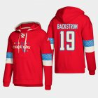 Cheap Washington Capitals #19 Nicklas Backstrom Red adidas Lace-Up Pullover Hoodie