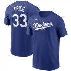 Cheap Los Angeles Dodgers #33 David Price Nike Name & Number T-Shirt Royal